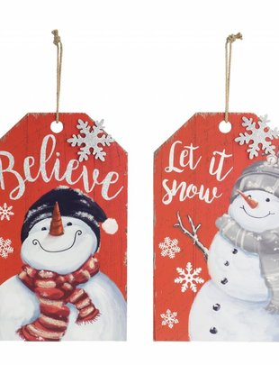 Snowman Tag Sign (2 Styles)