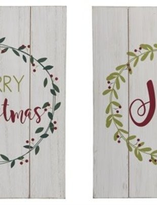 Slatted Wreath Sign (2 Styles)