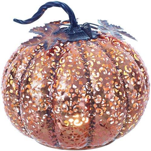 Metal Filigree Pumpkin Tealight Holder The Last Straw