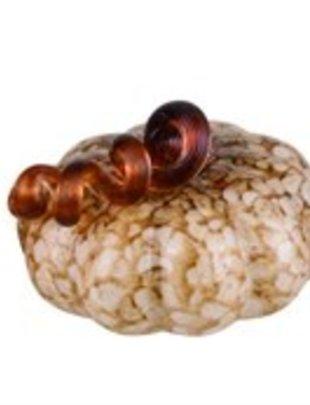 Bountiful Handblown Glass Pumpkin (3 Colors)