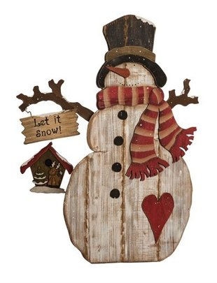 XL Wooden Frosty the Snowman