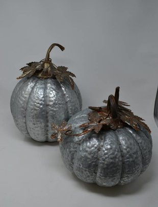 Small Rustic Galvanized Pumpkin (2 Styles)