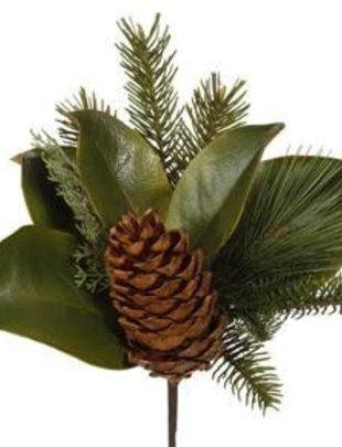 Magnolia Pine Pick