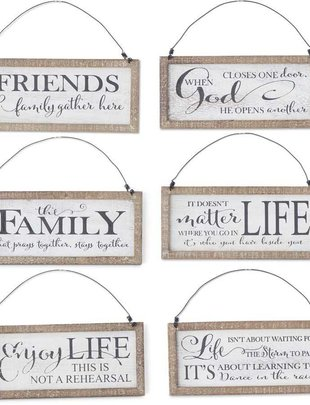 Hanging Framed Message Sign (6 Styles)