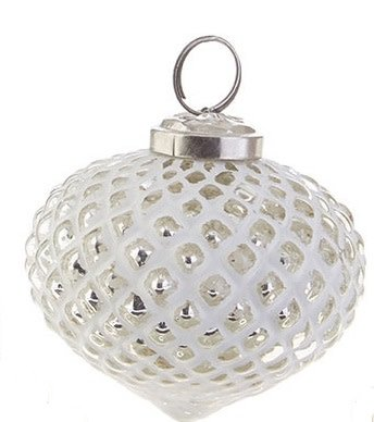 Whitewashed Silver Ornament (2 Sizes, 3 Styles)