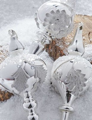 Silver Pinecone Finial Ornament (3 Styles)