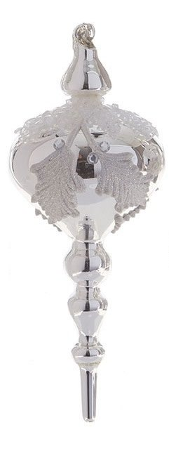 Silver Pinecone Finial Ornament