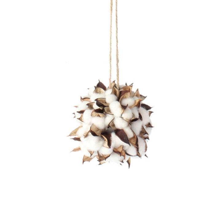 Cotton Pod Ball Ornament