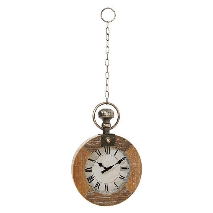 Wooden Pocket Watch Wall Decor