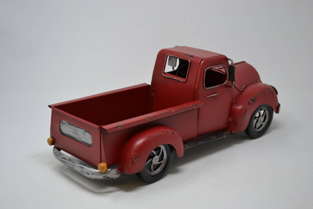 Red Metal Antique Truck