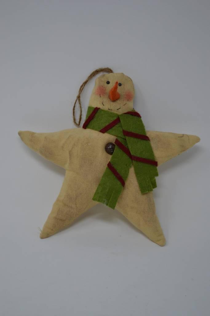 Plush Snowman Star Ornament (2 Styles)