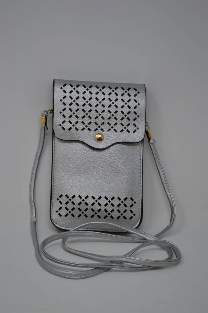 Double Pocket Touch Screen Crossbody Bag