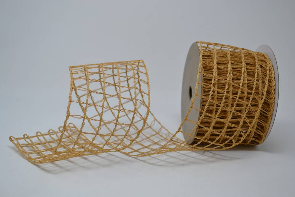 Khaki Open Weave Ribbon