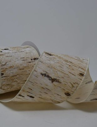 Snow Birch Bark Ribbon 10 Yds