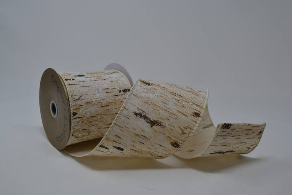 Snow Birch Bark Ribbon 10 Yds