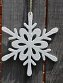Frosted White Snowflake Ornament