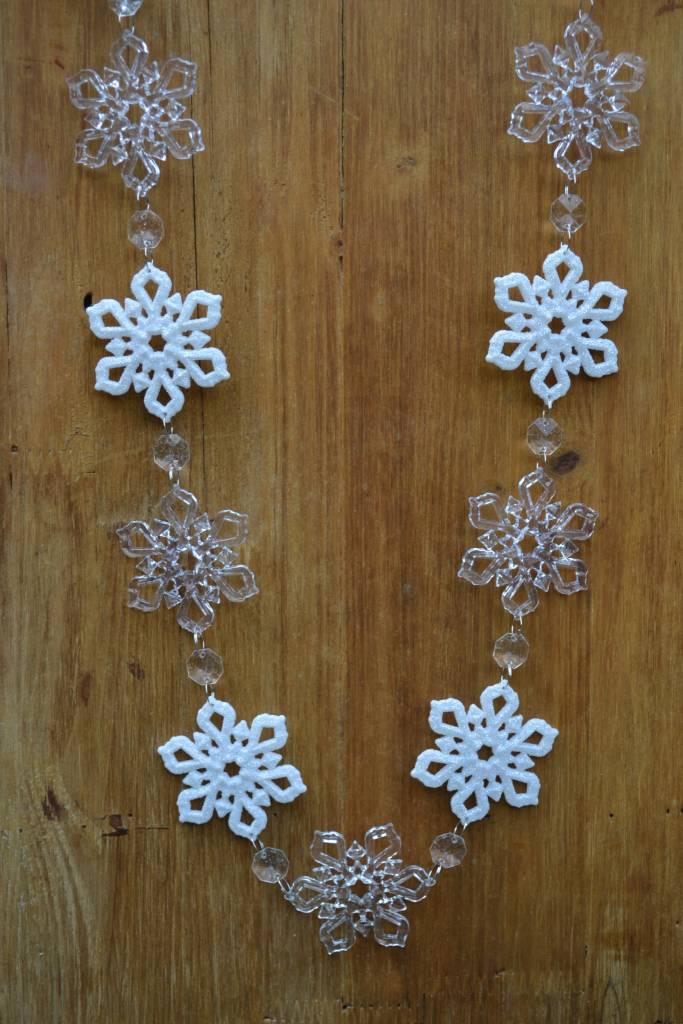 6-ft Acrylic Snowflake Garland