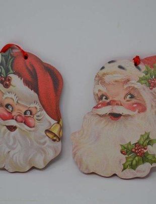 Retro Santa Face Ornament