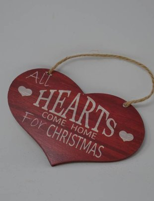Home for Christmas Heart Ornament