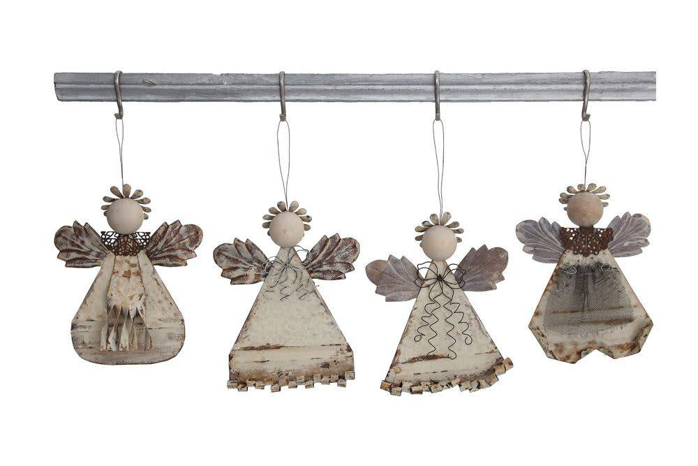 Rustic Metal Angel Ornament (4 Styles)