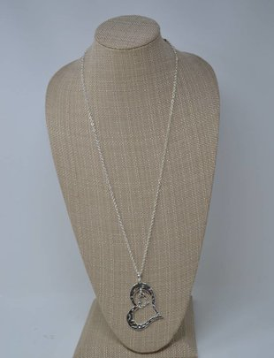 Floating Double Heart Necklace