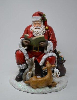 Sitting Santa w/ Animals
