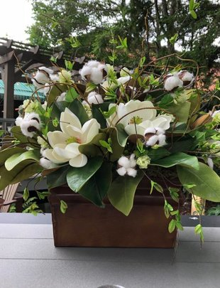 Custom Cotton Magnolia Arrangement