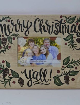 Large Merry Christmas Y'all Picture Frame
