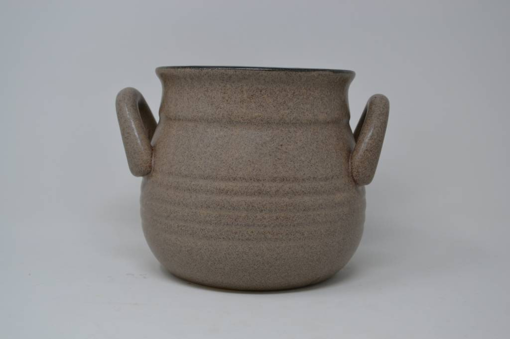 """6"""" Taupe Handled Container"""