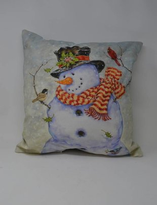 Nature Snowman Pillow