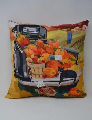 Fall Harvest Friends Pillow
