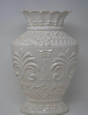 Tall Elegant Cream Vase