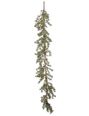 6' Red Berry Foliage Garland
