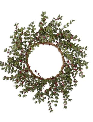 Red Berry Foliage Wreath