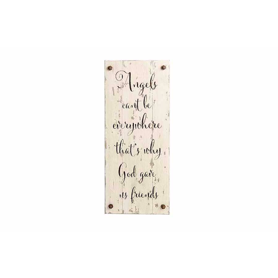 Angels Can't Be Everywhere Barnwood Sign