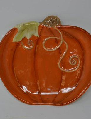 Orange Pumpkin Plate