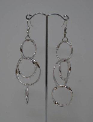 Silver Loop Dangle Earrings