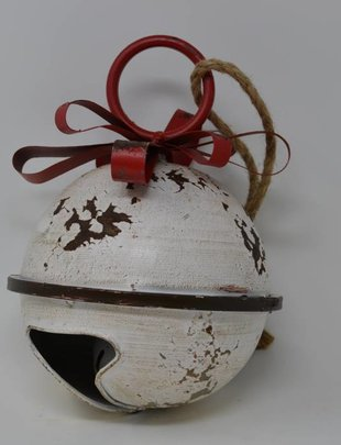 Round Rustic Cream Bell with Bow