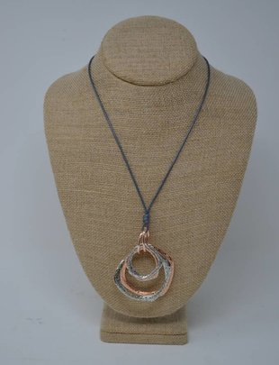 Multi-Loop Mixed Netal Necklace (2 Styles)
