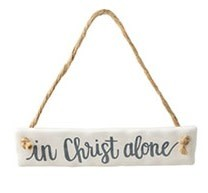 Hanging Ceramic Message Ornament