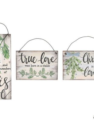 Christmas Sign Ornament (3 Styles)