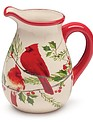 Cardinal Couple on Branch Pitcher