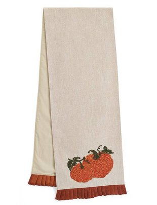 5.5-ft Embroidered Pumpkin Table Runner