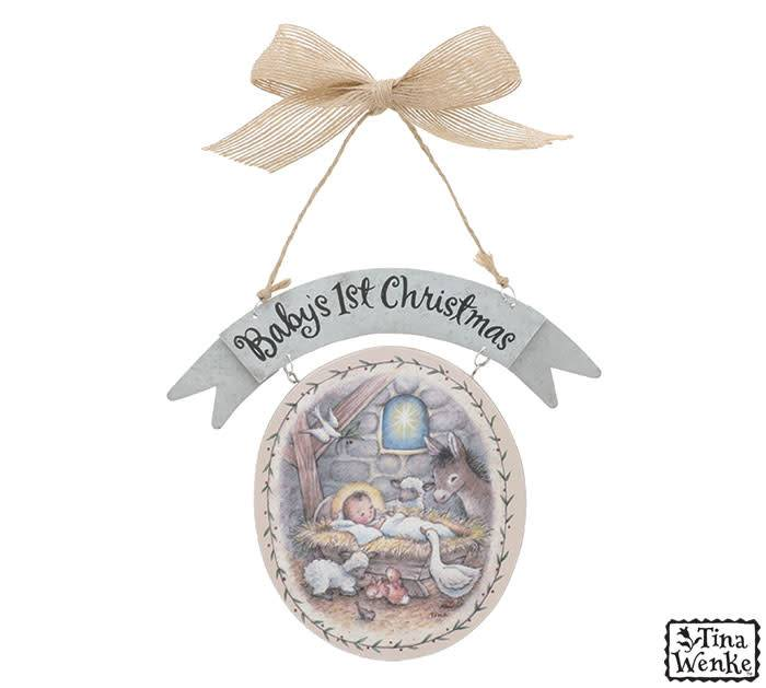 Baby's First Nativity Christmas Ornament