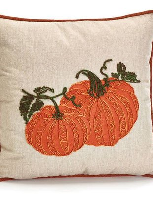 Embroidered Pumpkin Pillow ( 2 Styles)