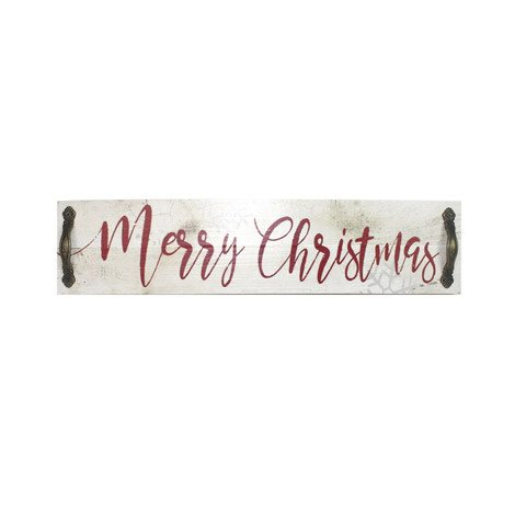 Merry Christmas Sign w/ Metal Accents