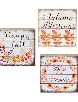 Square Autumn Sign (3 Styles)