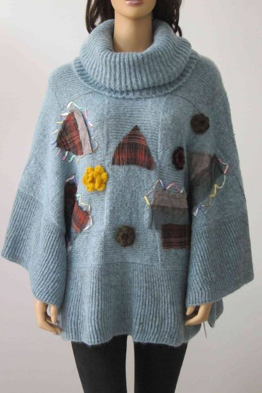 Patchwork Poncho (2 Colors)