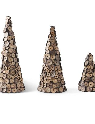 Coconut Button Trees (Set of 3)
