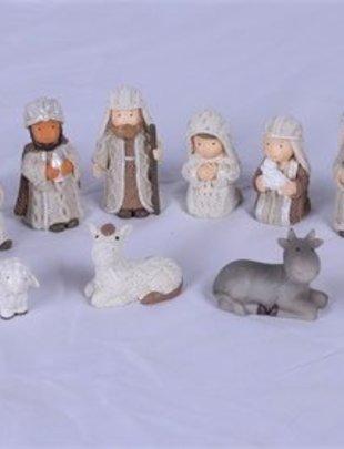 11 Piece Cable Knit Nativity